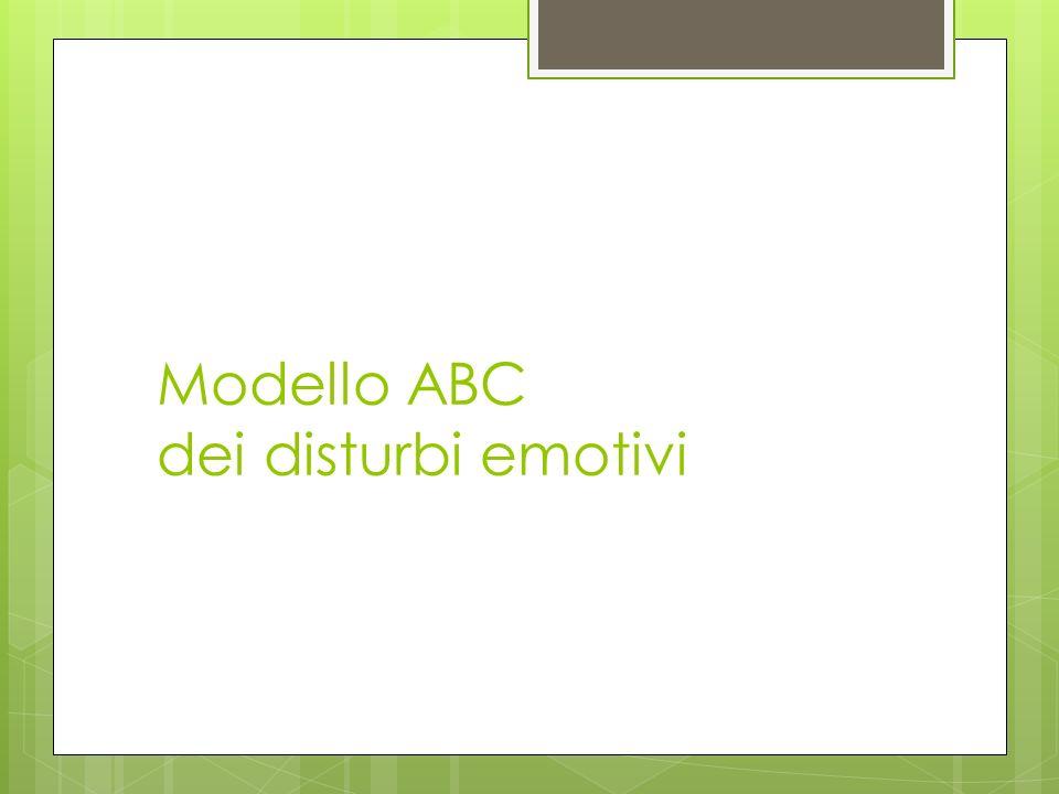 Modello ABC dei disturbi emotivi