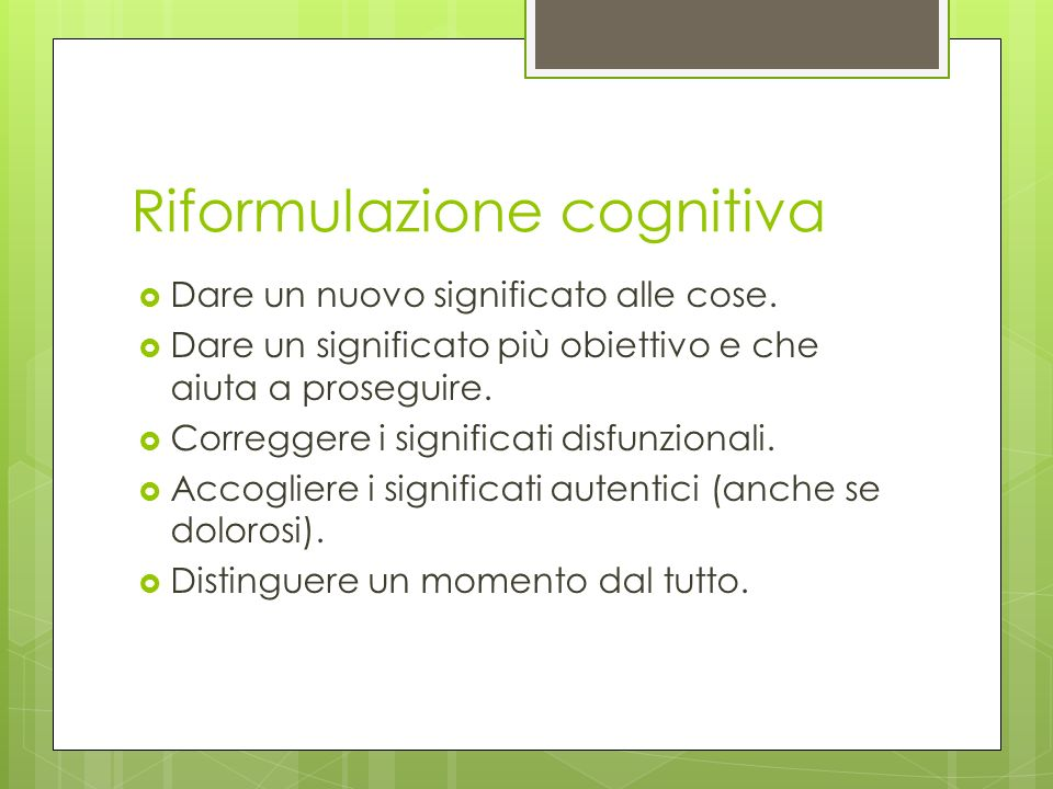 Riformulazione cognitiva