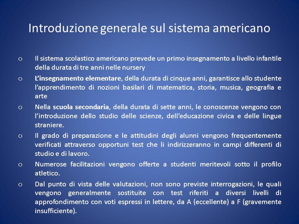 Introduzione generale sul sistema americano