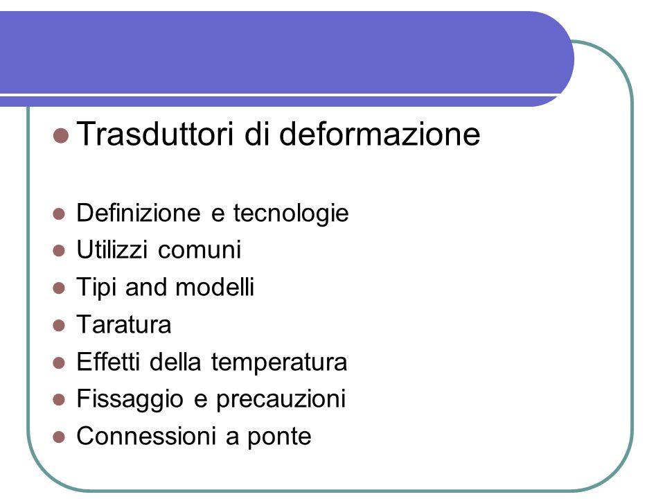 Trasduttori di deformazione