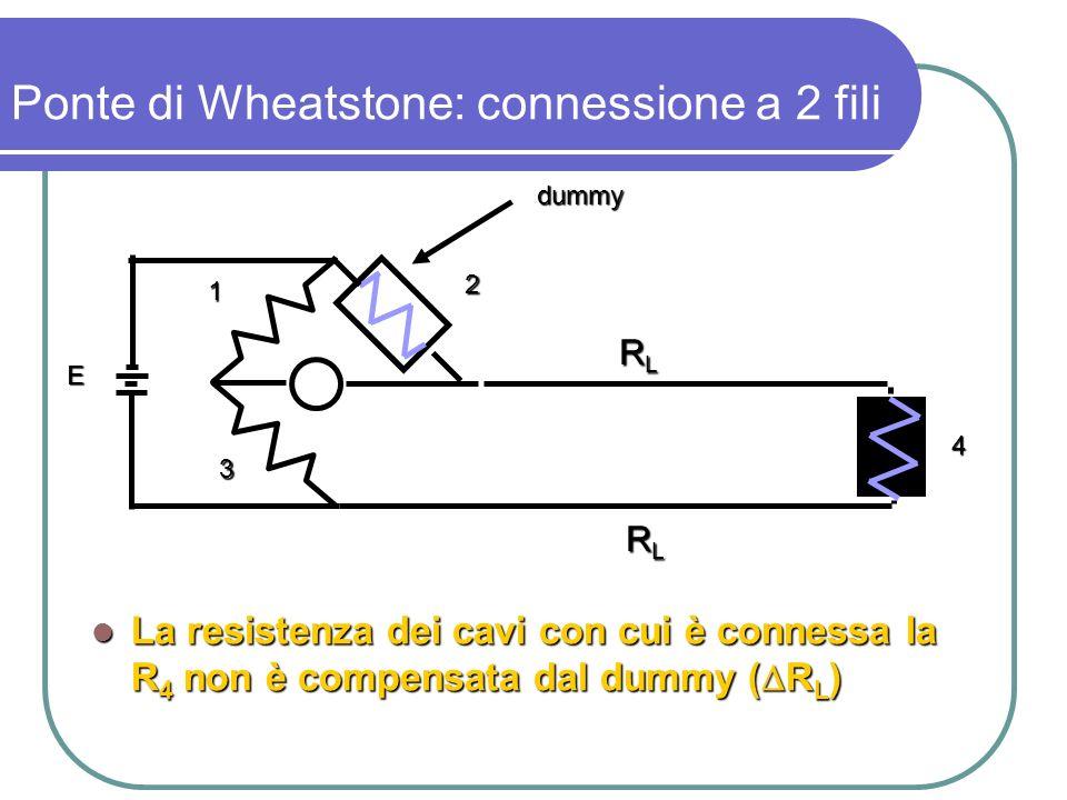 Ponte di Wheatstone: connessione a 2 fili