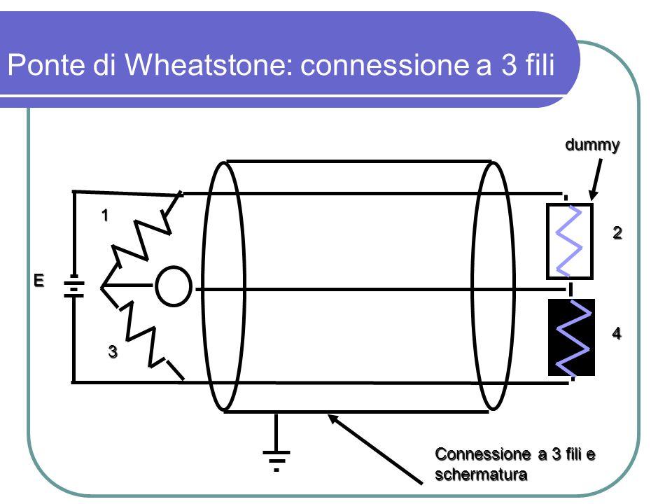 Ponte di Wheatstone: connessione a 3 fili