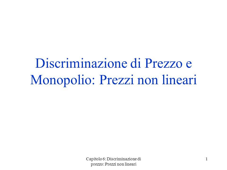Discriminazione di Prezzo e Monopolio: Prezzi non lineari