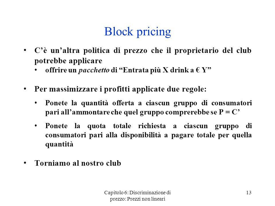 Capitolo 6: Discriminazione di prezzo: Prezzi non lineari