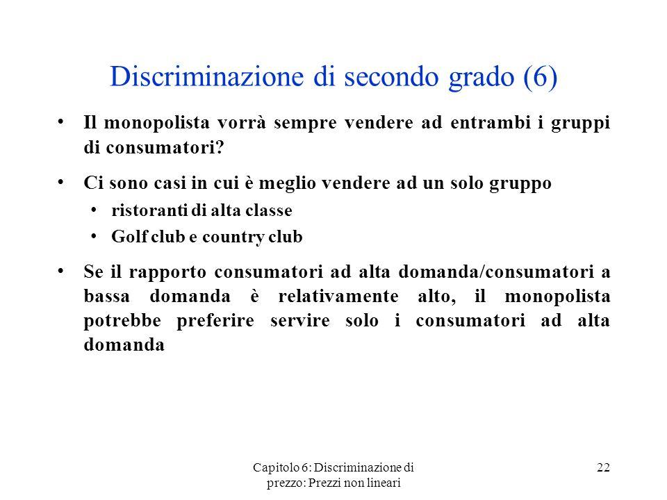 Discriminazione di secondo grado (6)