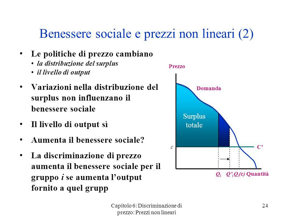 Benessere sociale e prezzi non lineari (2)