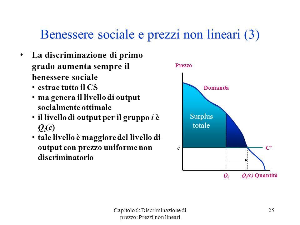 Benessere sociale e prezzi non lineari (3)