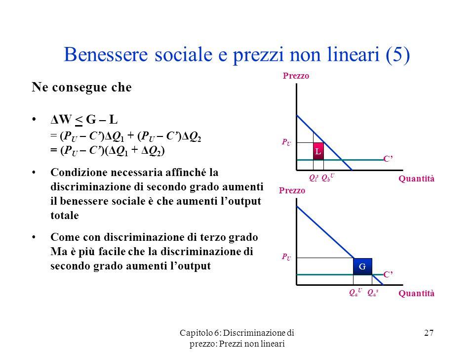 Benessere sociale e prezzi non lineari (5)