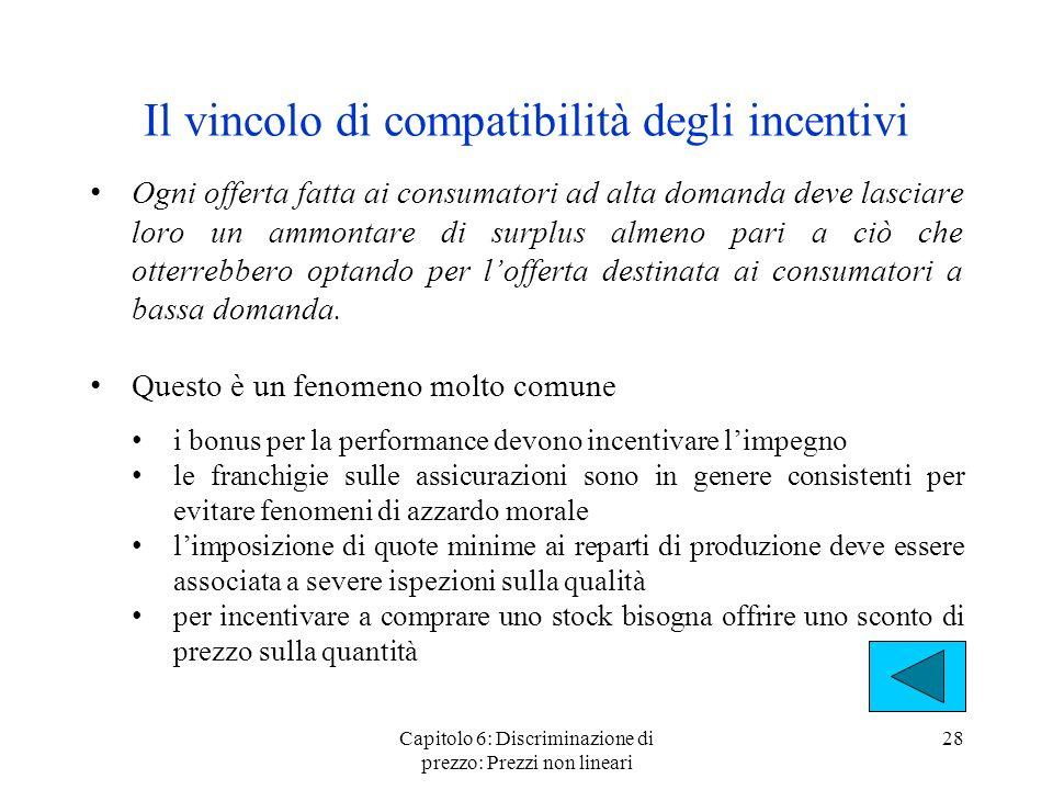 Il vincolo di compatibilità degli incentivi