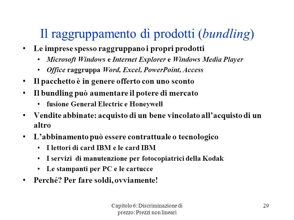 Il raggruppamento di prodotti (bundling)