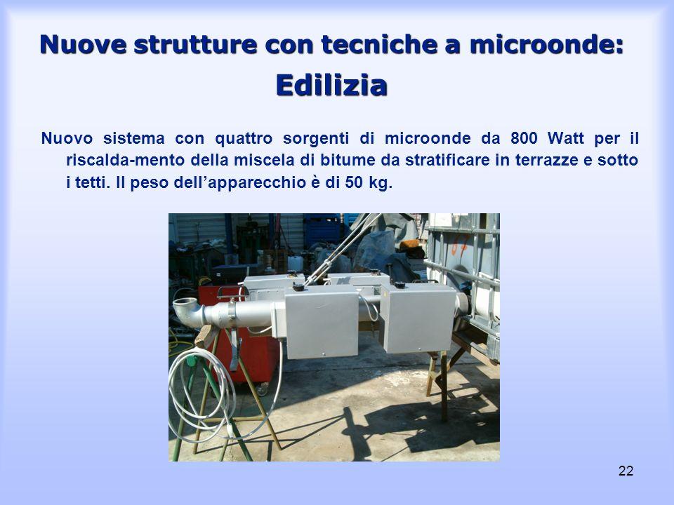 Nuove strutture con tecniche a microonde: Edilizia