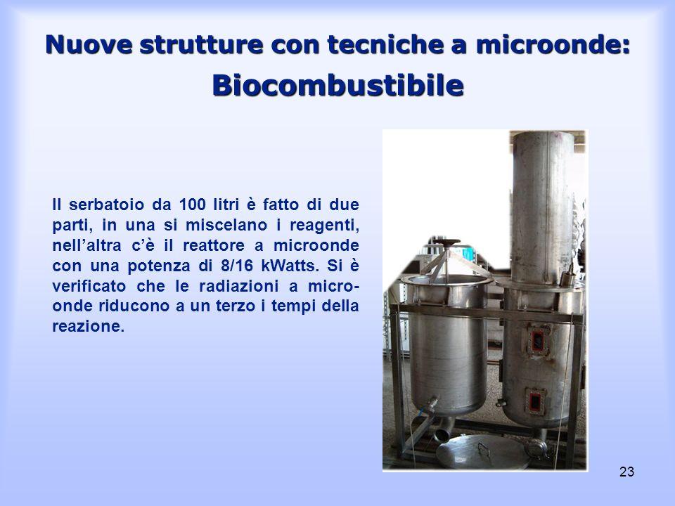 Nuove strutture con tecniche a microonde: Biocombustibile