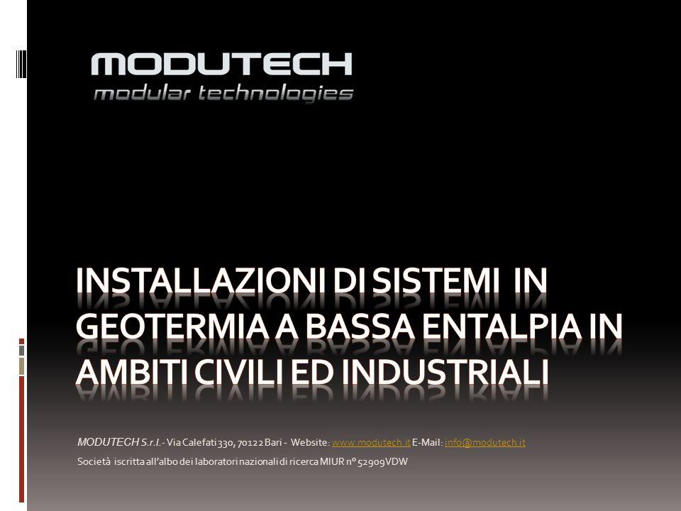 Installazioni di sistemi in geotermia a bassa entalpia in ambiti civili ed industriali