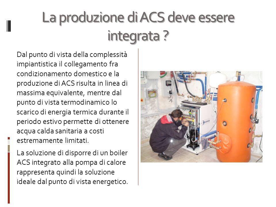 La produzione di ACS deve essere integrata