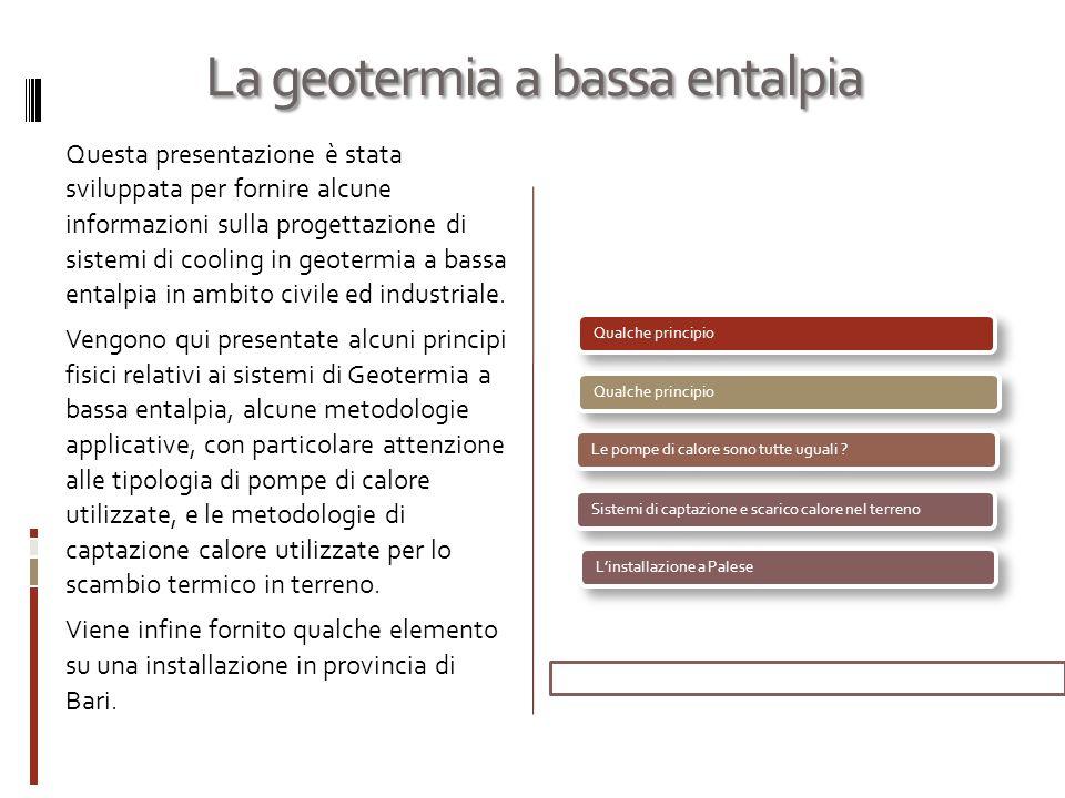 La geotermia a bassa entalpia