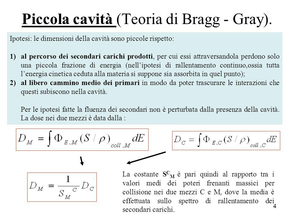 Piccola cavità (Teoria di Bragg - Gray).