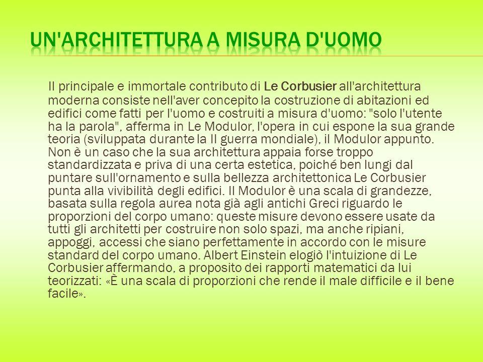 Un architettura a misura d uomo
