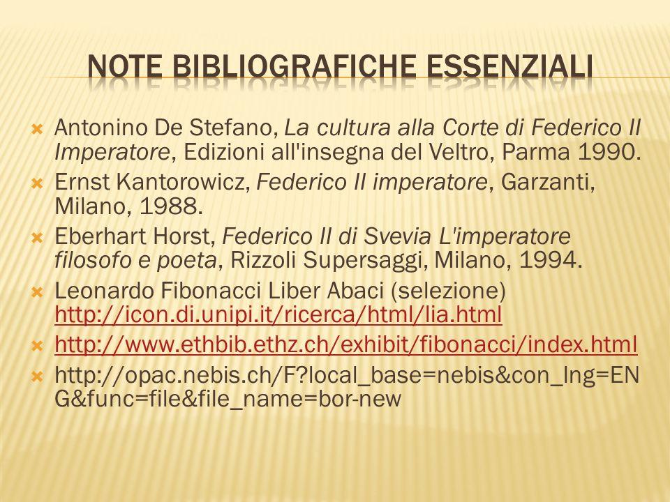 Note bibliografiche essenziali