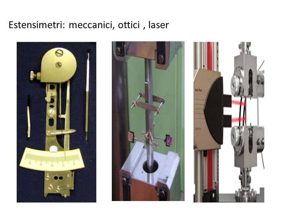 Estensimetri: meccanici, ottici , laser