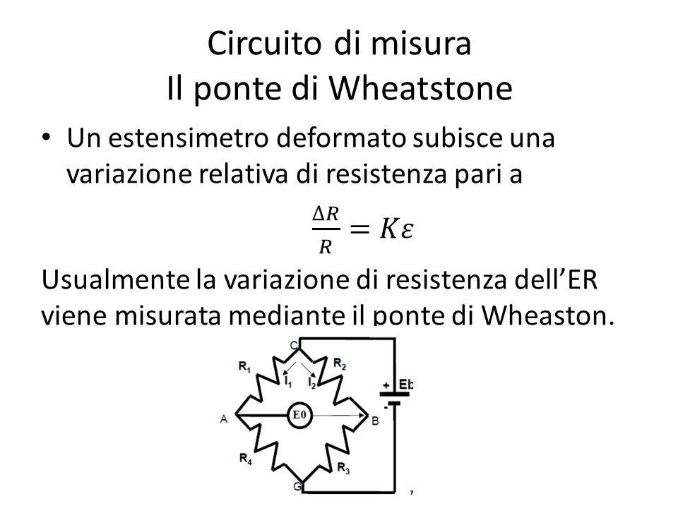 Circuito di misura Il ponte di Wheatstone
