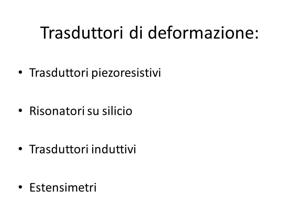 Trasduttori di deformazione: