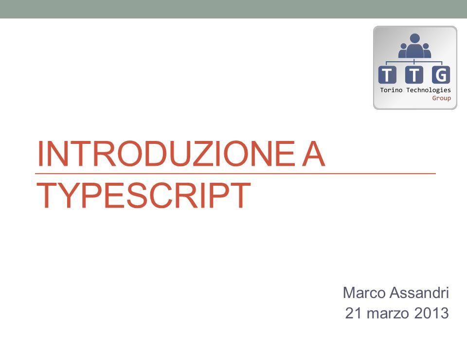 Introduzione a typescript
