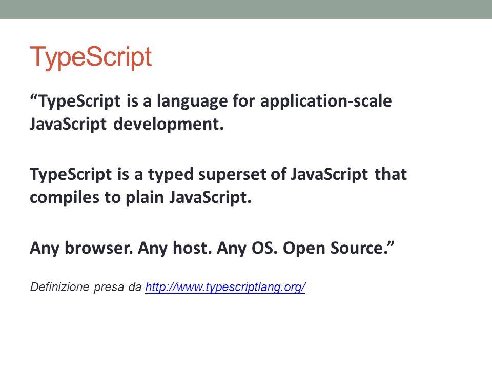 TypeScript TypeScript is a language for application-scale JavaScript development.