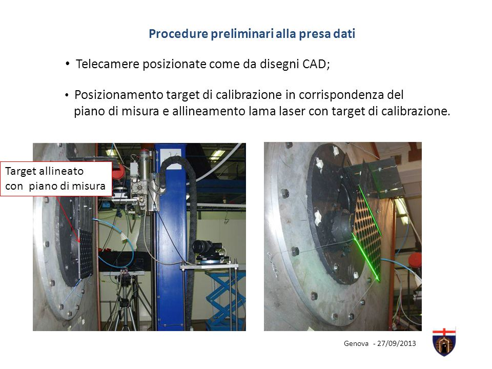 Procedure preliminari alla presa dati