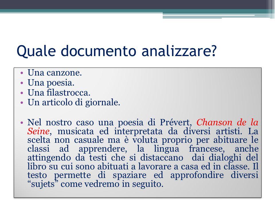 Quale documento analizzare
