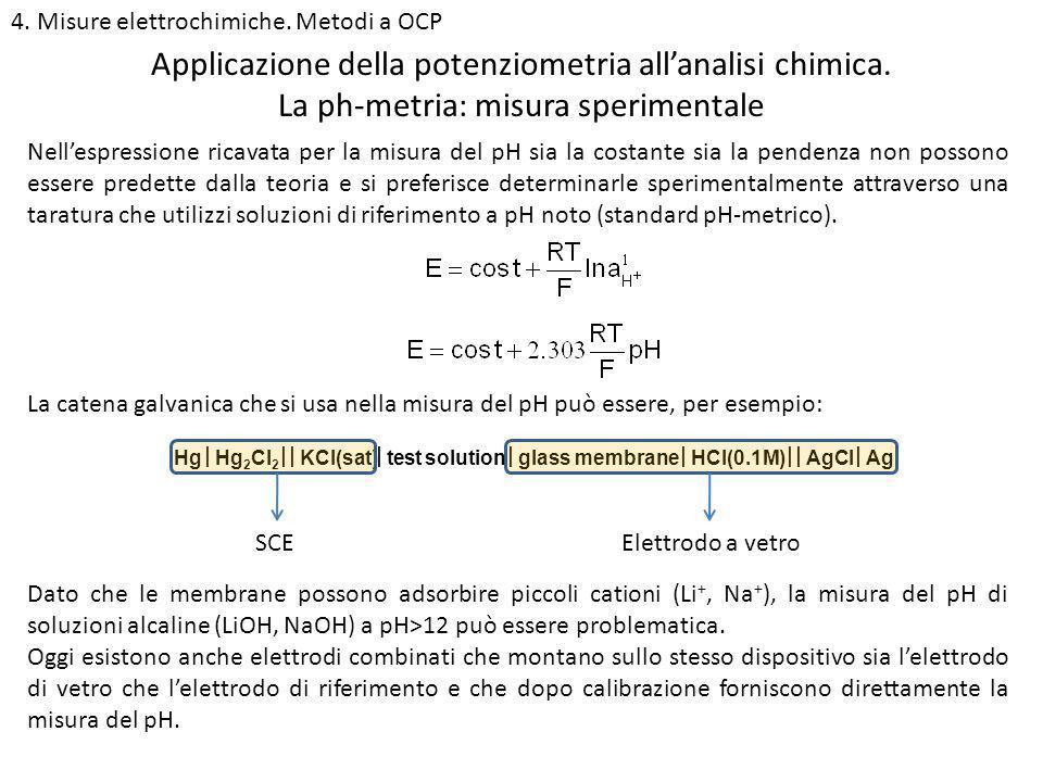 Applicazione della potenziometria all'analisi chimica.