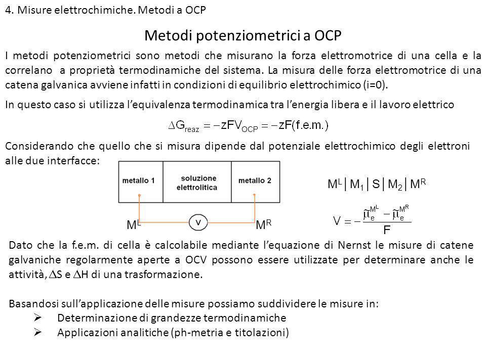 Metodi potenziometrici a OCP