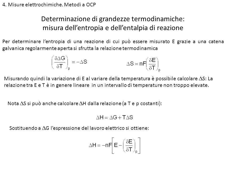 Determinazione di grandezze termodinamiche: