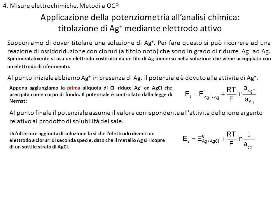 Applicazione della potenziometria all'analisi chimica:
