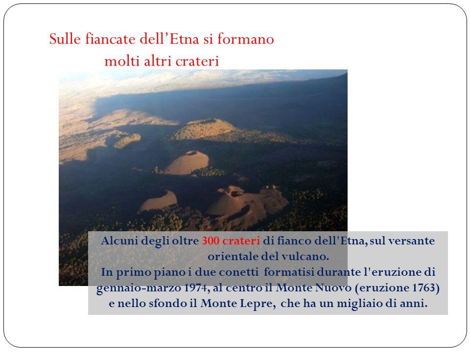 Sulle fiancate dell'Etna si formano molti altri crateri