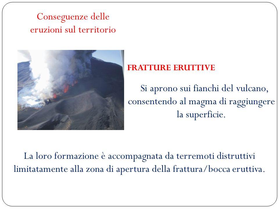 Conseguenze delle eruzioni sul territorio