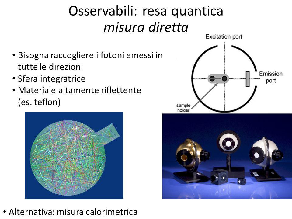 Osservabili: resa quantica