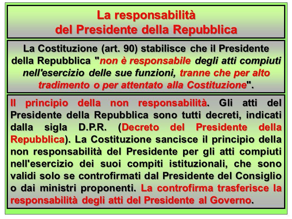 del Presidente della Repubblica