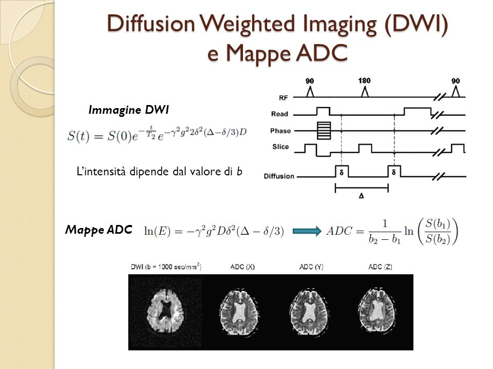 Diffusion Weighted Imaging (DWI) e Mappe ADC