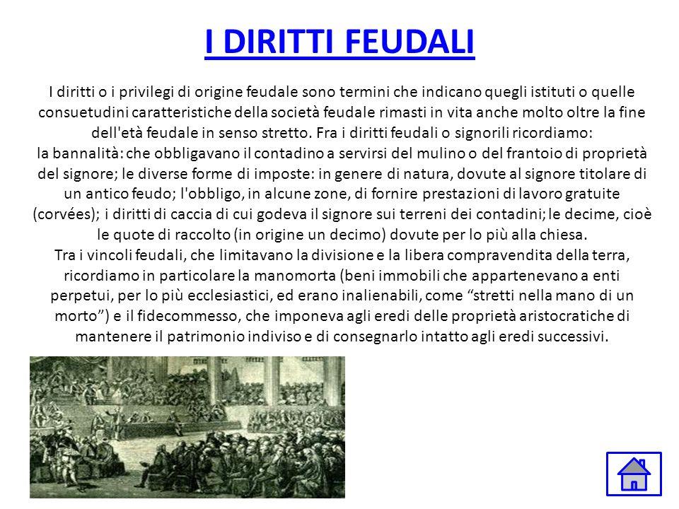 I DIRITTI FEUDALI