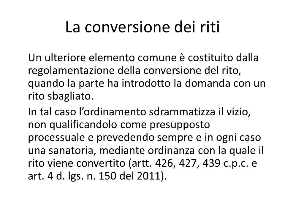 La conversione dei riti