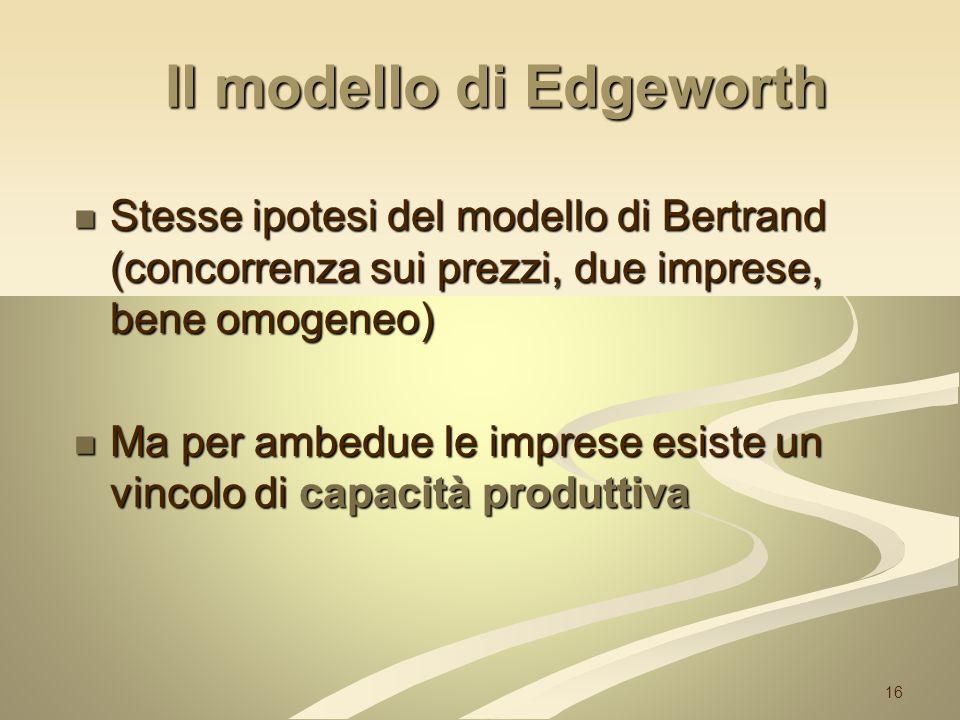Il modello di Edgeworth