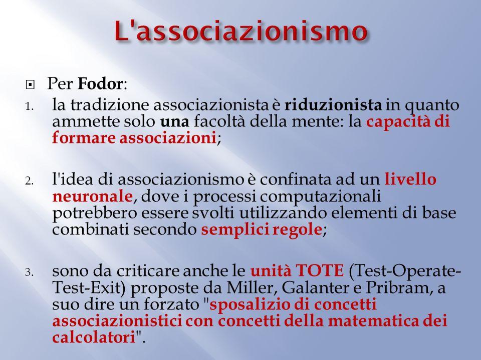 L associazionismo Per Fodor: