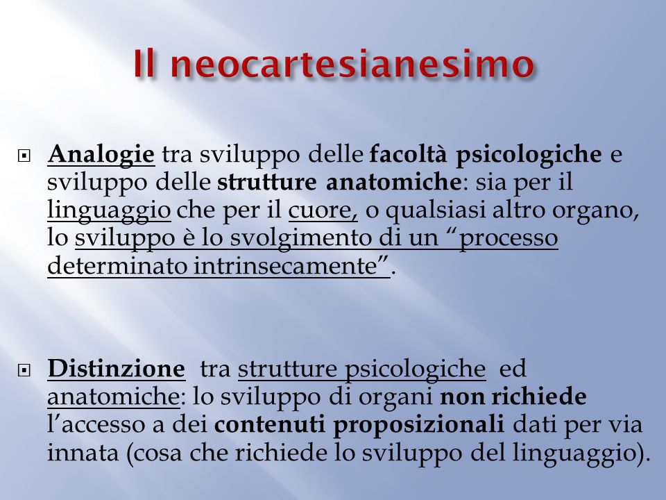 Il neocartesianesimo
