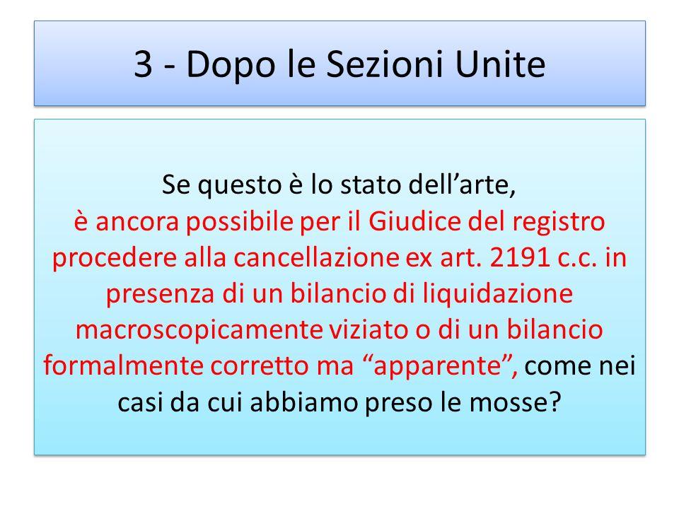 3 - Dopo le Sezioni Unite