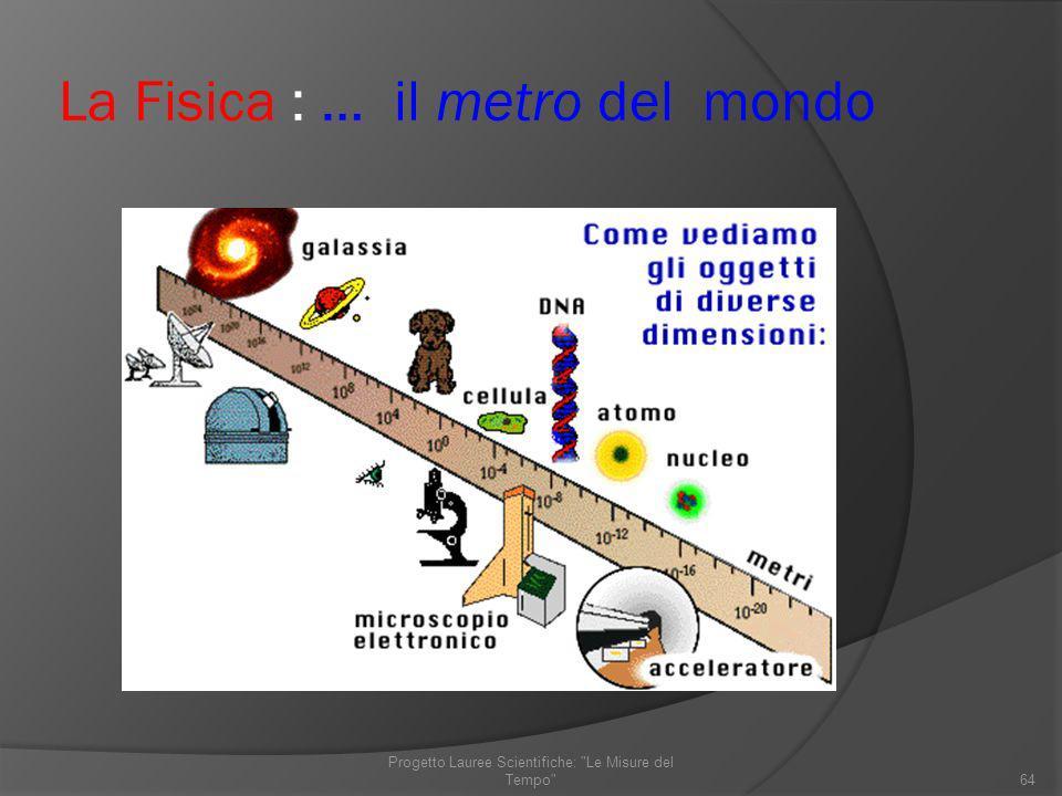 La Fisica : … il metro del mondo