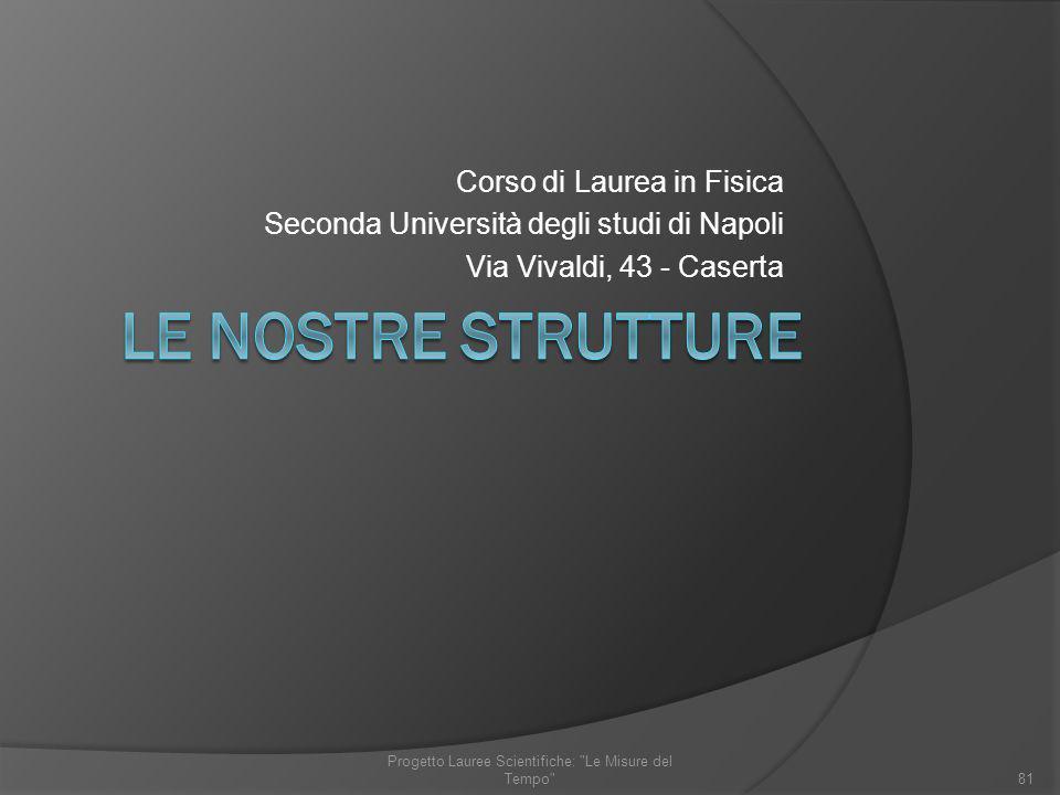 Progetto Lauree Scientifiche: Le Misure del Tempo