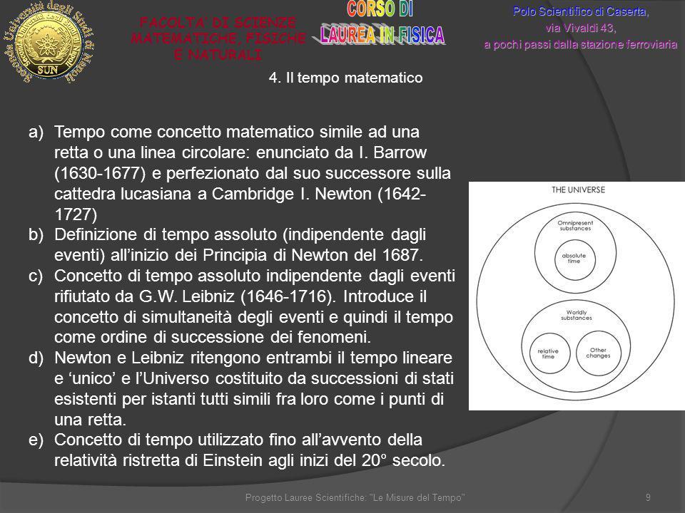 FACOLTA' DI SCIENZE MATEMATICHE, FISICHE E NATURALI