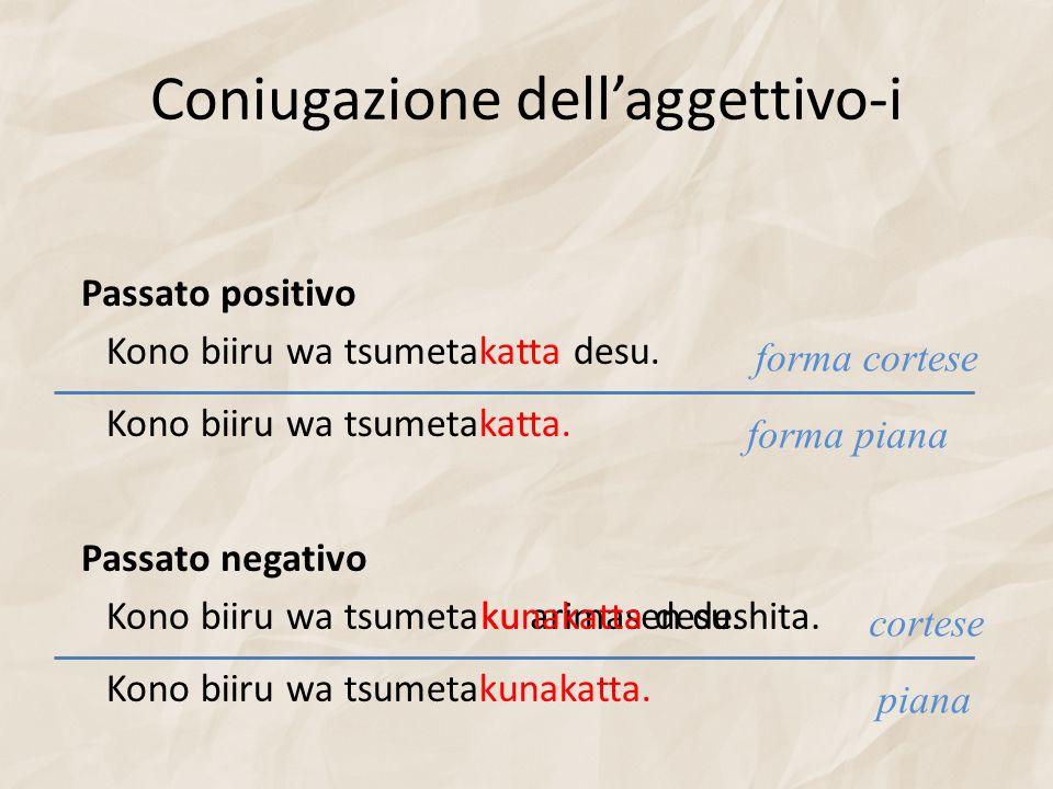 Coniugazione dell'aggettivo-i