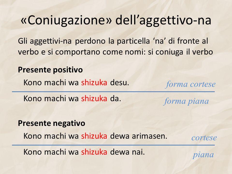 «Coniugazione» dell'aggettivo-na