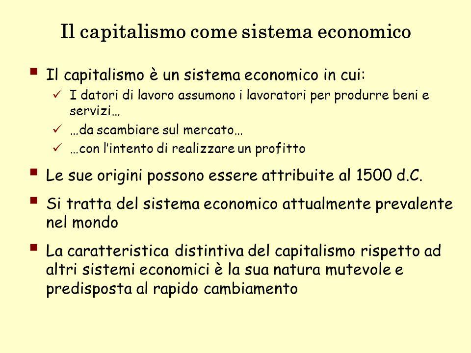 Il capitalismo come sistema economico